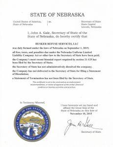 NE State Certification